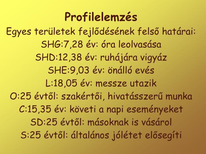 Profilelemzés