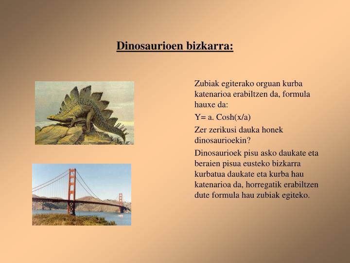 Dinosaurioen bizkarra: