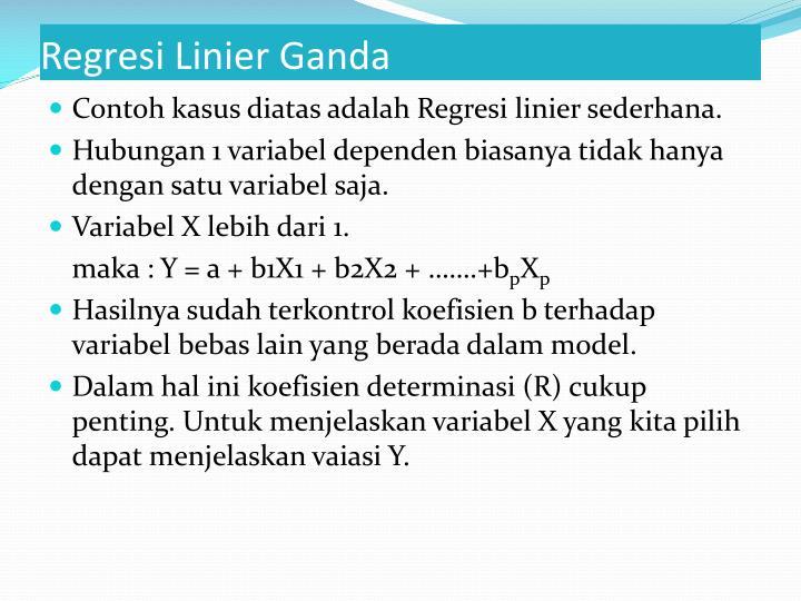 Regresi Linier Ganda