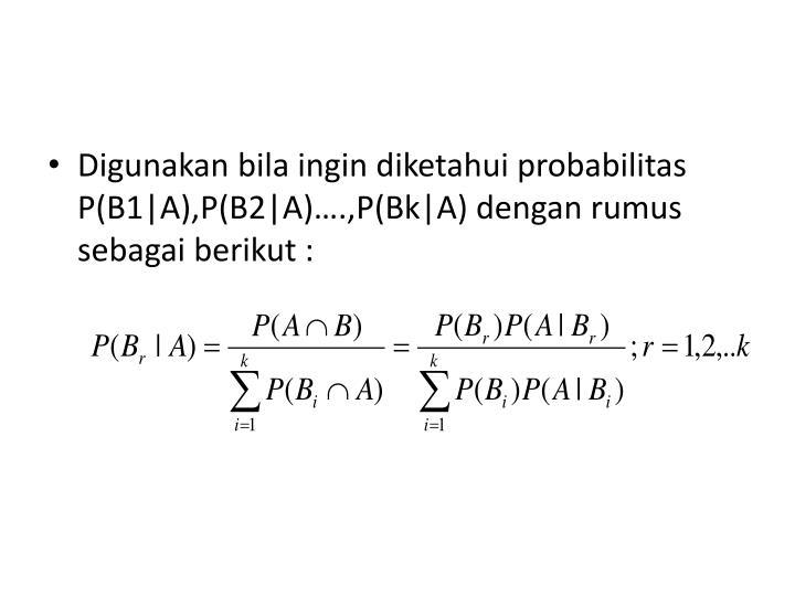 Jadi Teorema Bayes