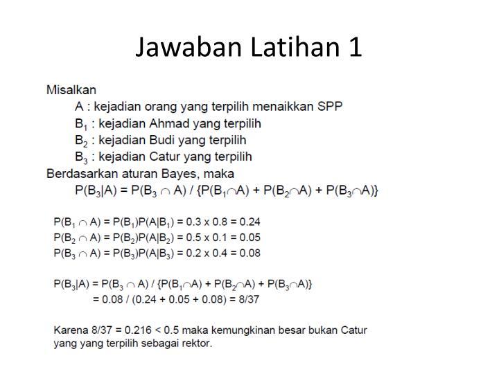 Jawaban Latihan 1