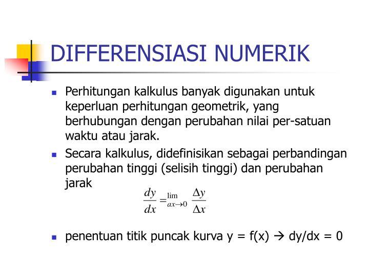 DIFFERENSIASI NUMERIK