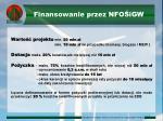 finansowanie przez nfo igw
