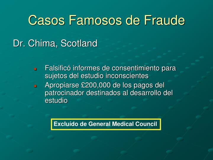 Casos Famosos de Fraude