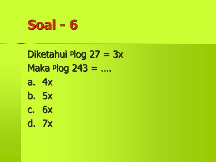 Soal - 6