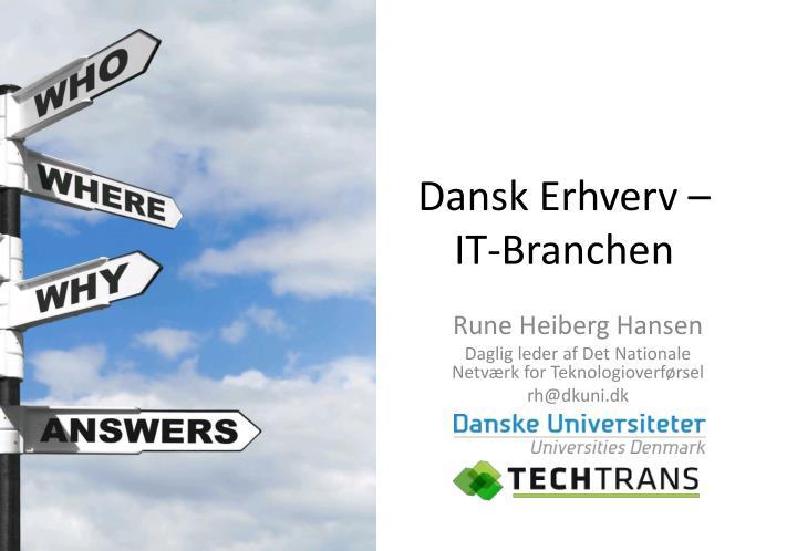 Dansk Erhverv – IT-Branchen
