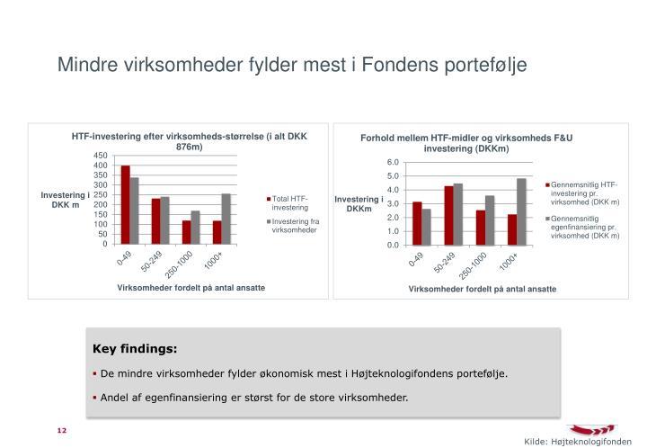 Mindre virksomheder fylder mest i Fondens portefølje