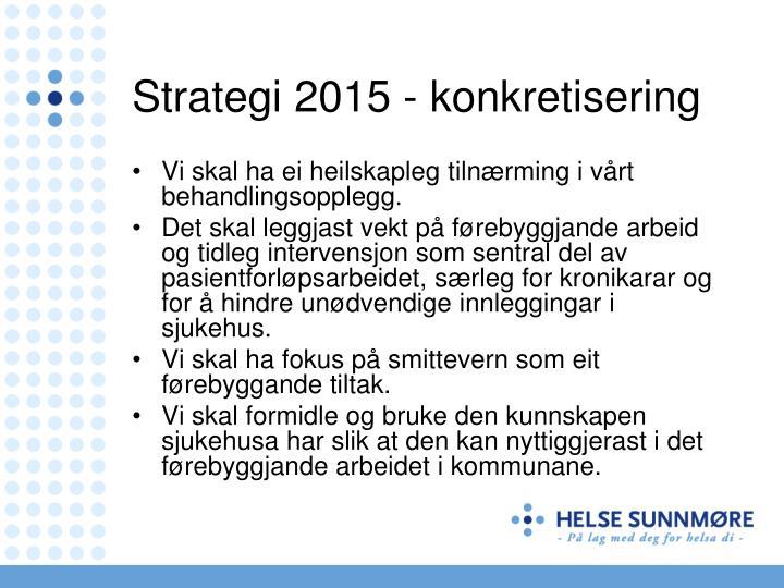Strategi 2015 - konkretisering
