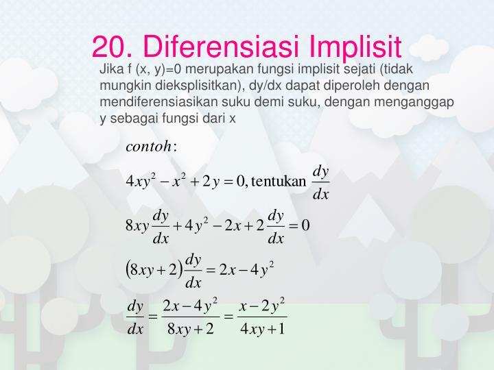 20. Diferensiasi Implisit