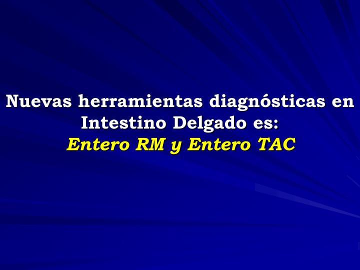 Nuevas herramientas diagnósticas en  Intestino Delgado es: