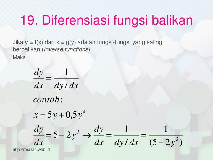 19. Diferensiasi fungsi balikan