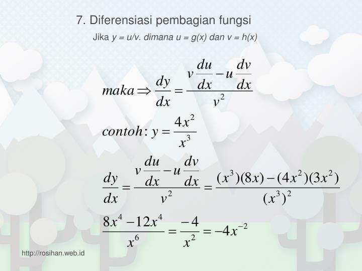 7. Diferensiasi pembagian fungsi