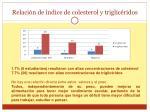 relaci n de ndice de colesterol y triglic ridos