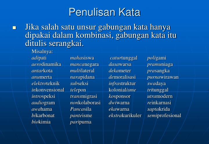 Penulisan Kata