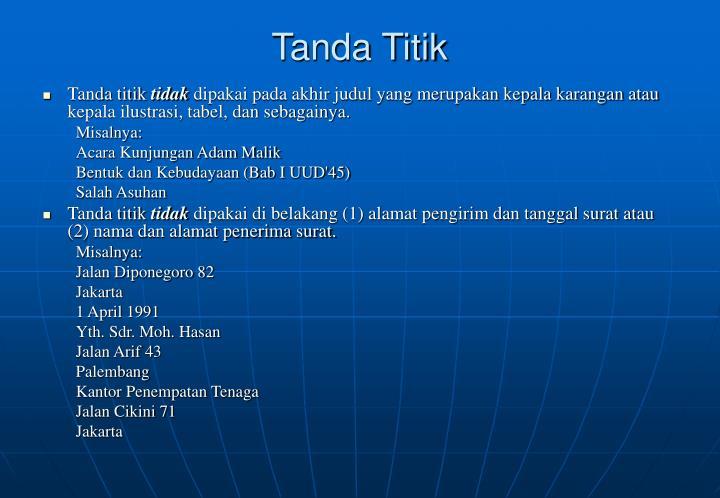 Tanda Titik