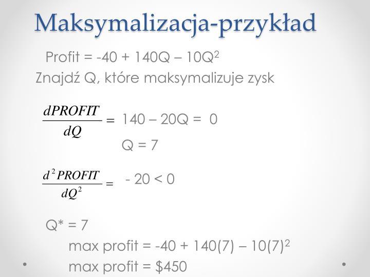 Maksymalizacja-przykład
