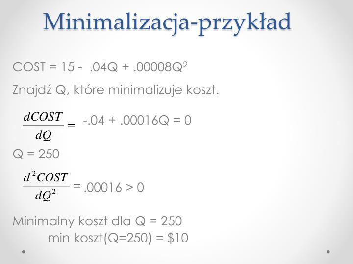 Minimalizacja-przykład