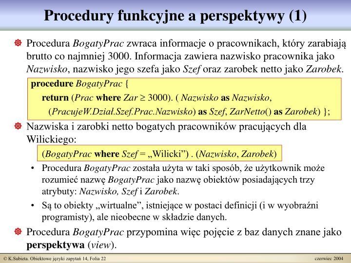 Procedury funkcyjne a perspektywy (1)