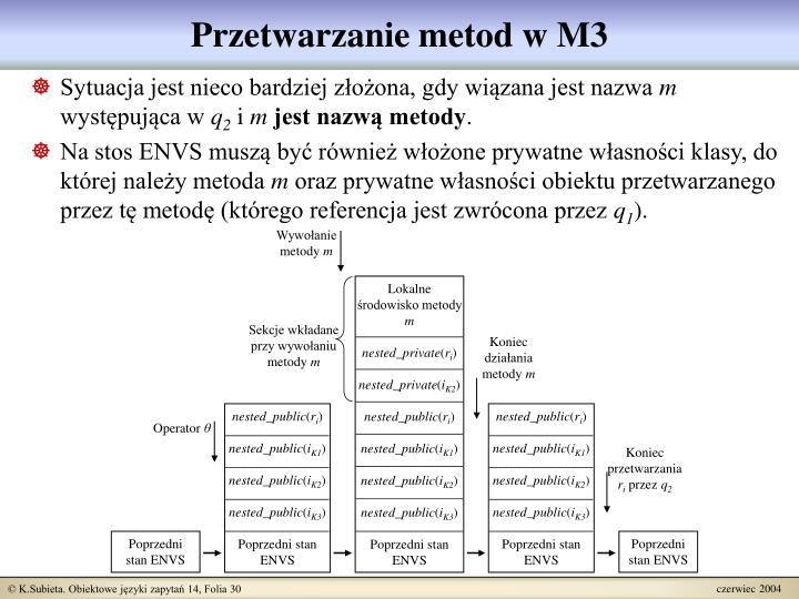 Przetwarzanie metod w M3