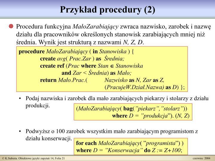 Przykład procedury (2)