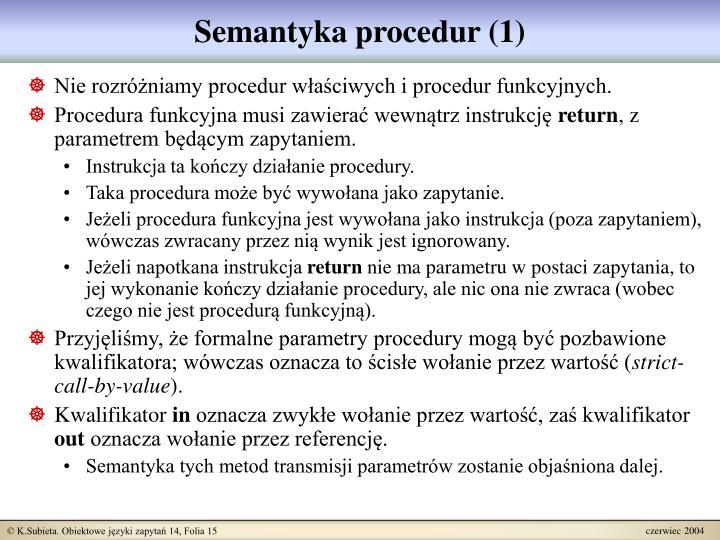 Semantyka procedur (1)
