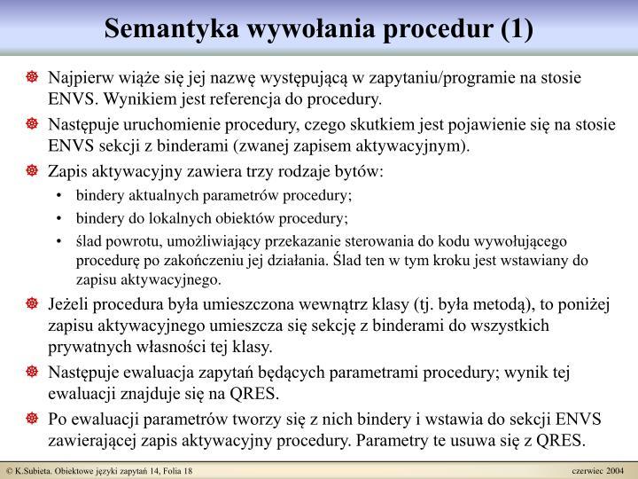 Semantyka wywołania procedur (1)