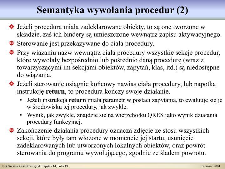 Semantyka wywołania procedur (2)