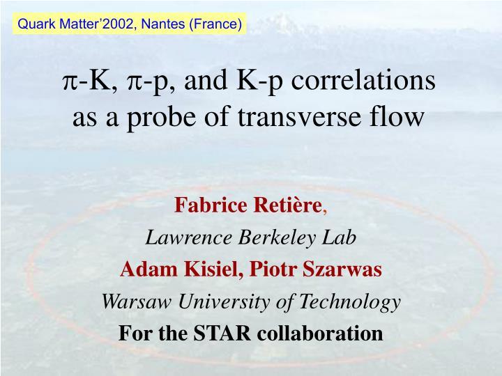 Quark Matter'2002, Nantes (France)