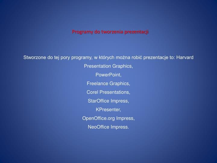 Programy do tworzenia prezentacji