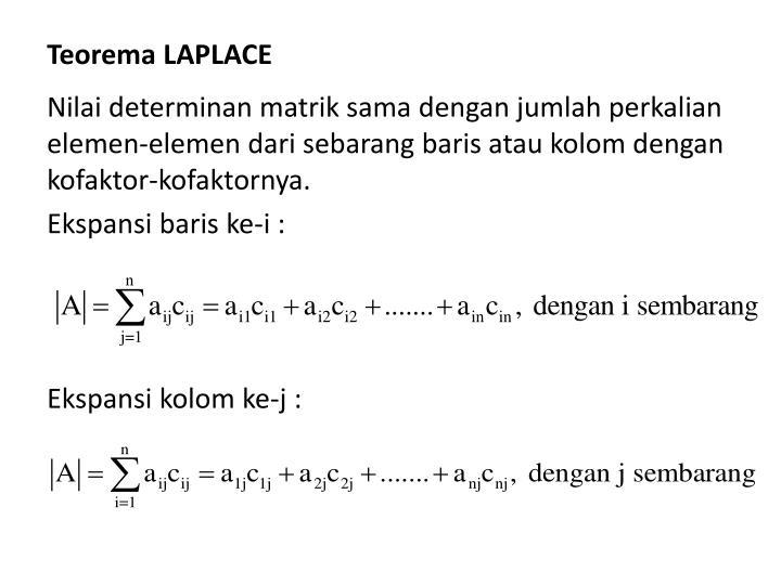 Teorema LAPLACE