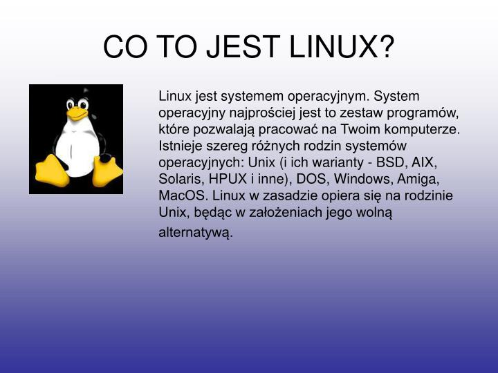 CO TO JEST LINUX?
