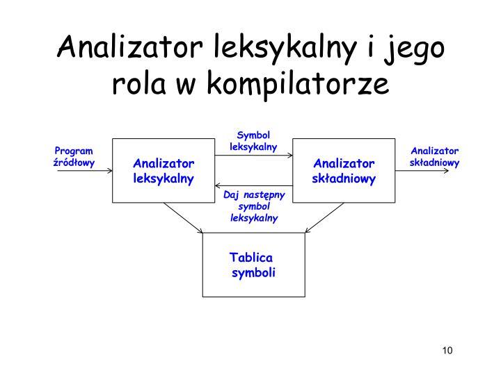 Analizator leksykalny i jego rola w kompilatorze