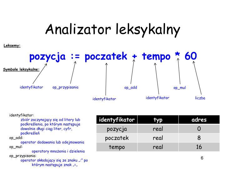 Analizator leksykalny