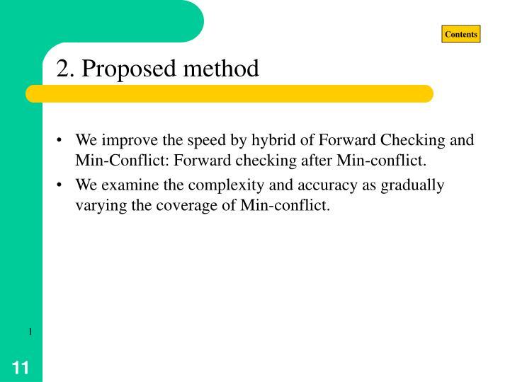 2. Proposed method