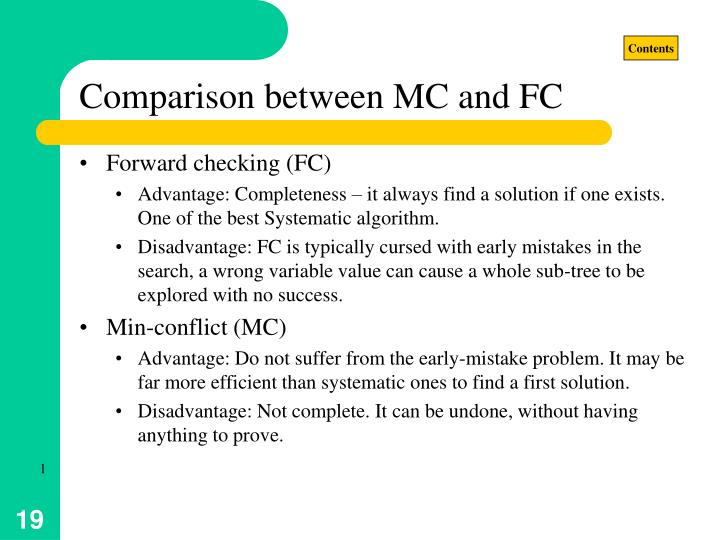 Comparison between MC and FC