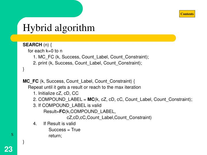 Hybrid algorithm