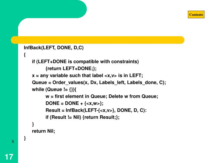 InfBack(LEFT, DONE, D,C)