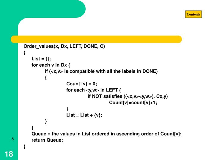 Order_values(x, Dx, LEFT, DONE, C)