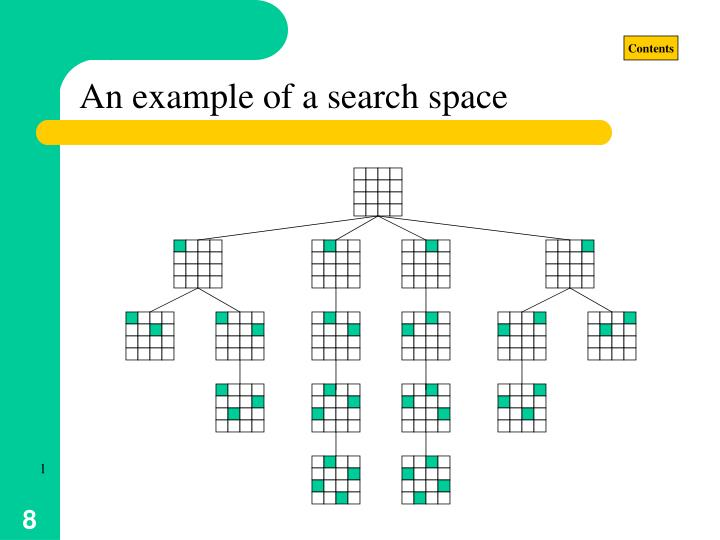 An example of a search space