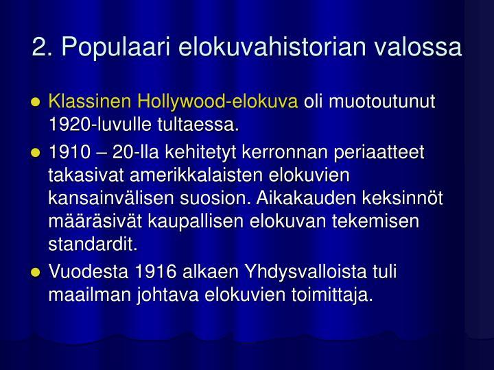 2. Populaari elokuvahistorian valossa