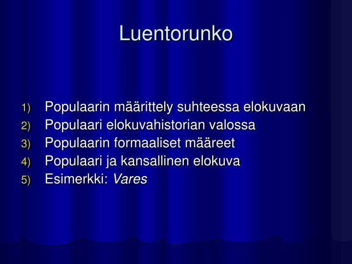 Luentorunko