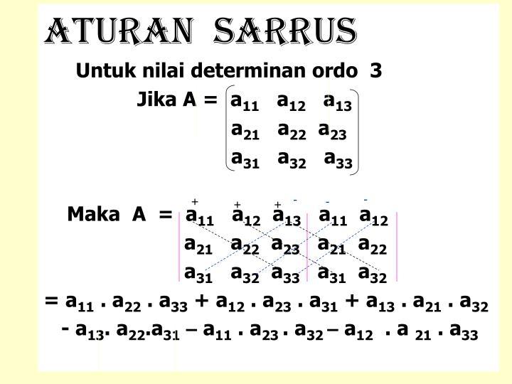 Aturan  sarrus