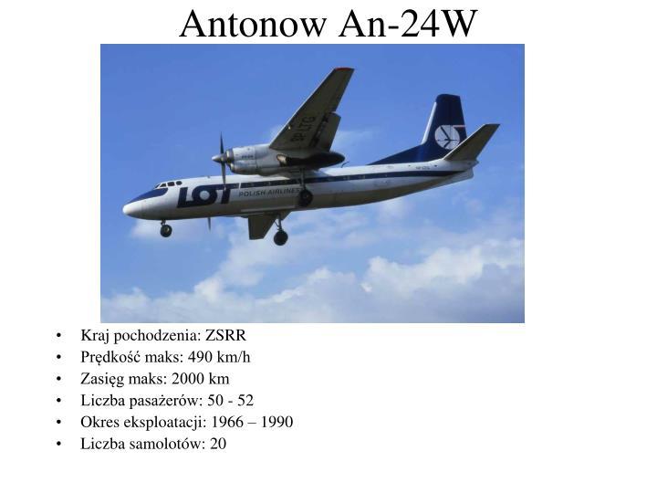 Antonow An-24W
