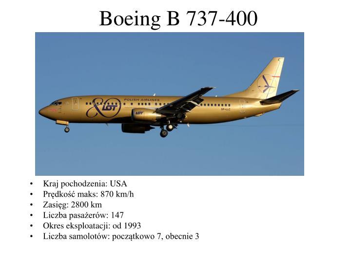 Boeing B 737-400