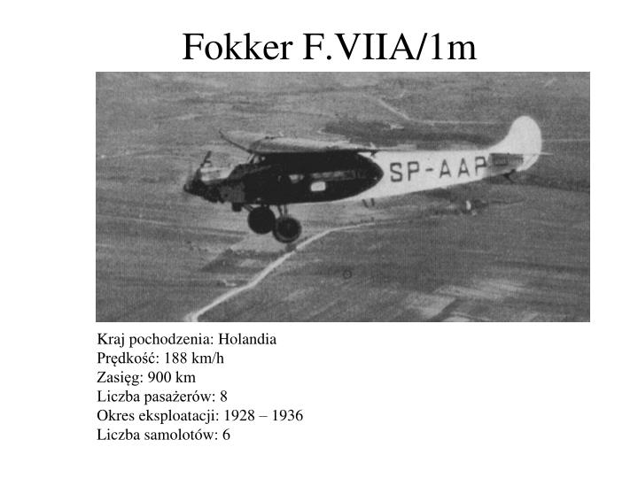 Fokker F.VIIA/1m