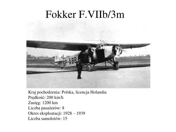 Fokker F.VIIb/3m