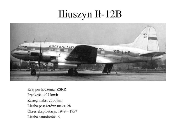 Iliuszyn Ił-12B