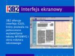 interfejs ekranowy