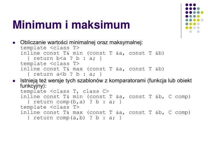 Minimum i maksimum