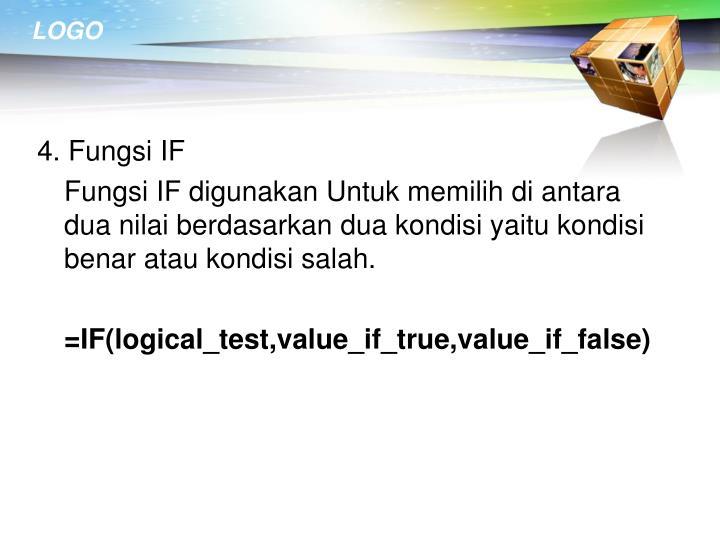 4. Fungsi IF